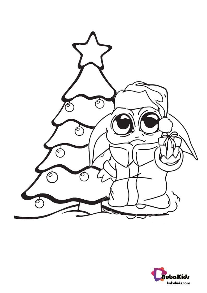 Baby Yoda Christmas Coloring Page For Kids Cartoon Coloring Pages Christmas Colors Coloring Pages