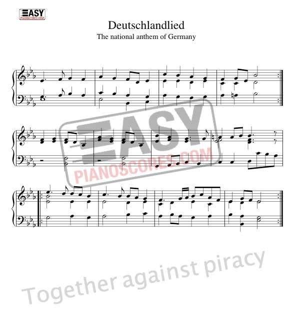 Das Deutschlandlied The National Anthem Of Germany