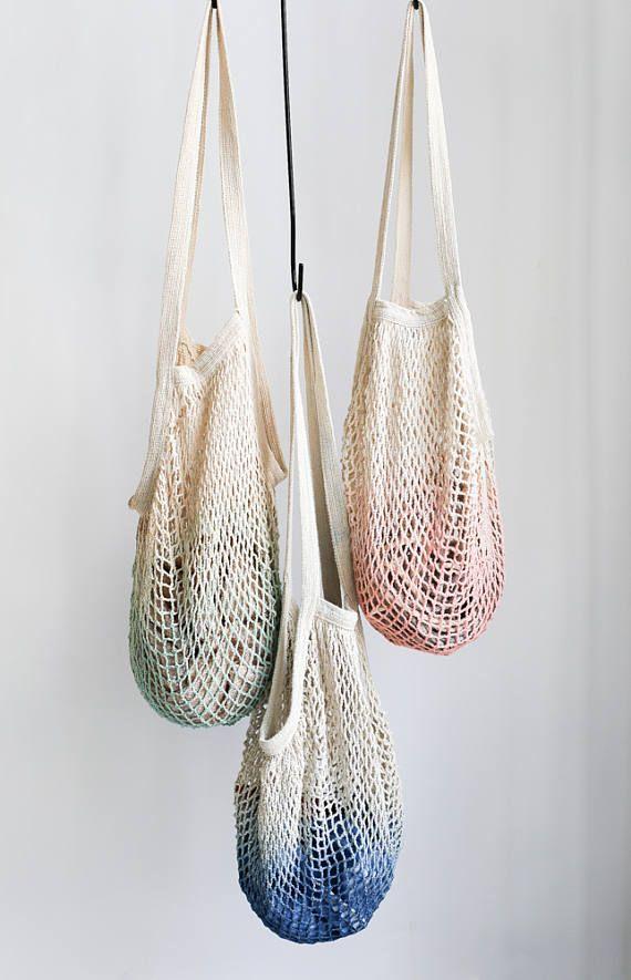 048bb08ec19 Net Bag, Crochet Tote Bag, Bag for Produce, Mesh Bag, Reusable ...