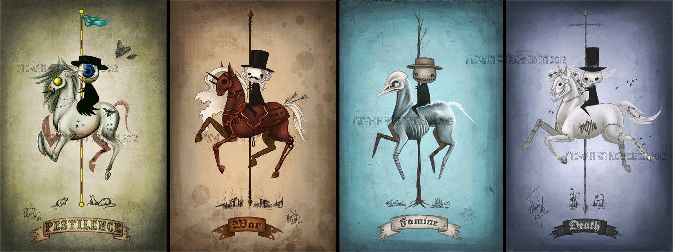 Entire Four Horsemen of the Apocalypse set by MeganMissfit