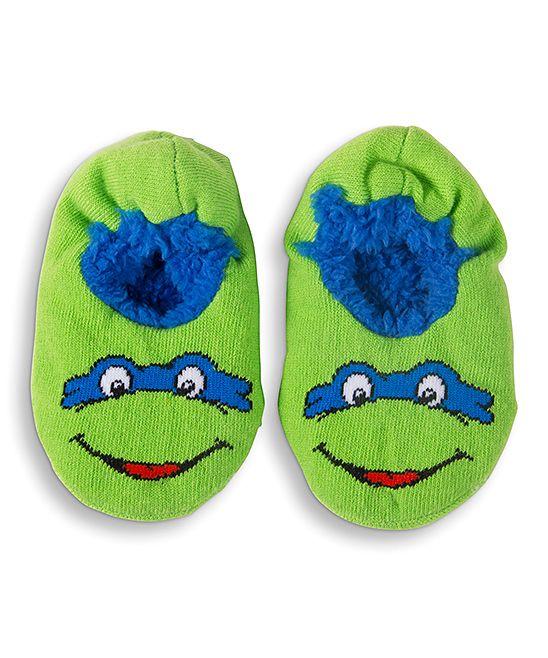 Green TMNT Fuzzy Slippers