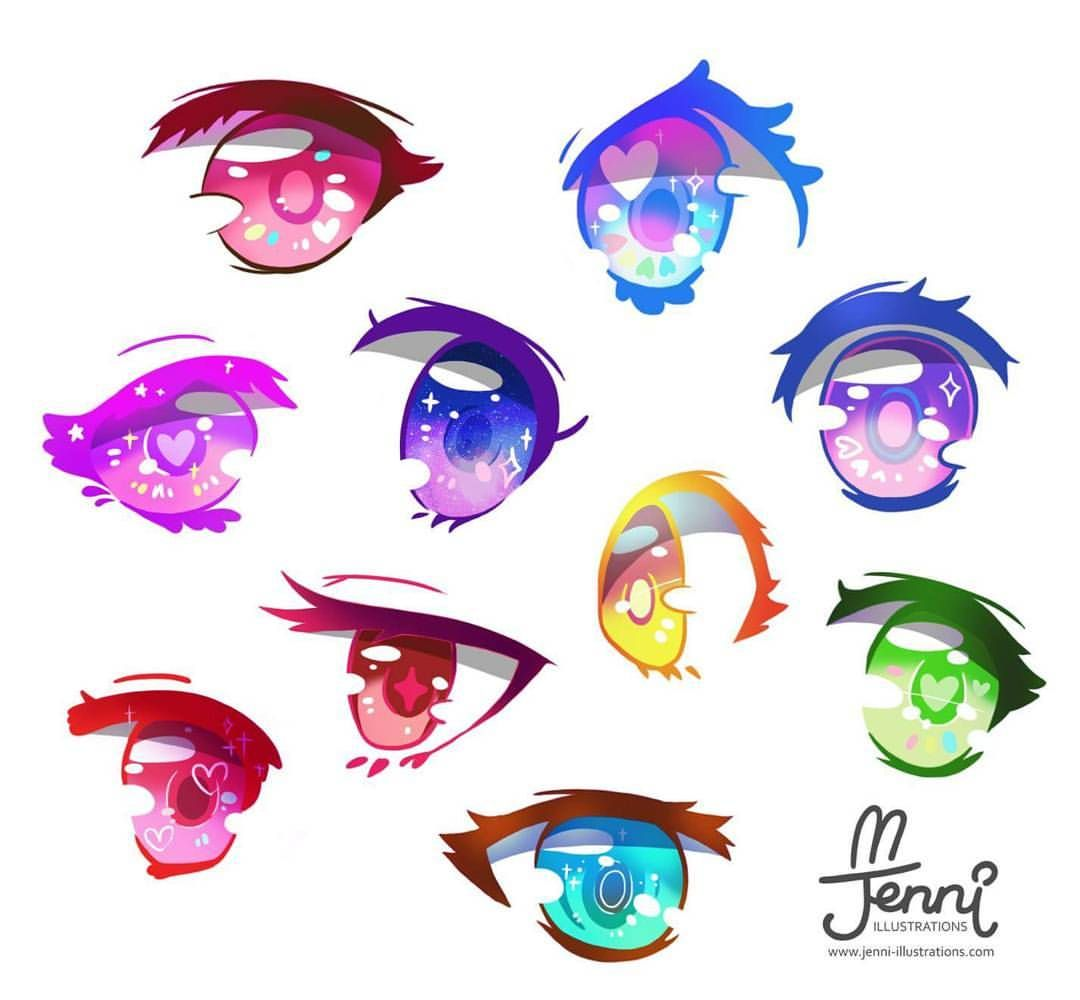 Eyes With Diff Colour Practice Or Just For Fun Haha Digitalart Animeeyes Colourful Kawaiiartist Wacomcintiq Drawing Jennilustrations