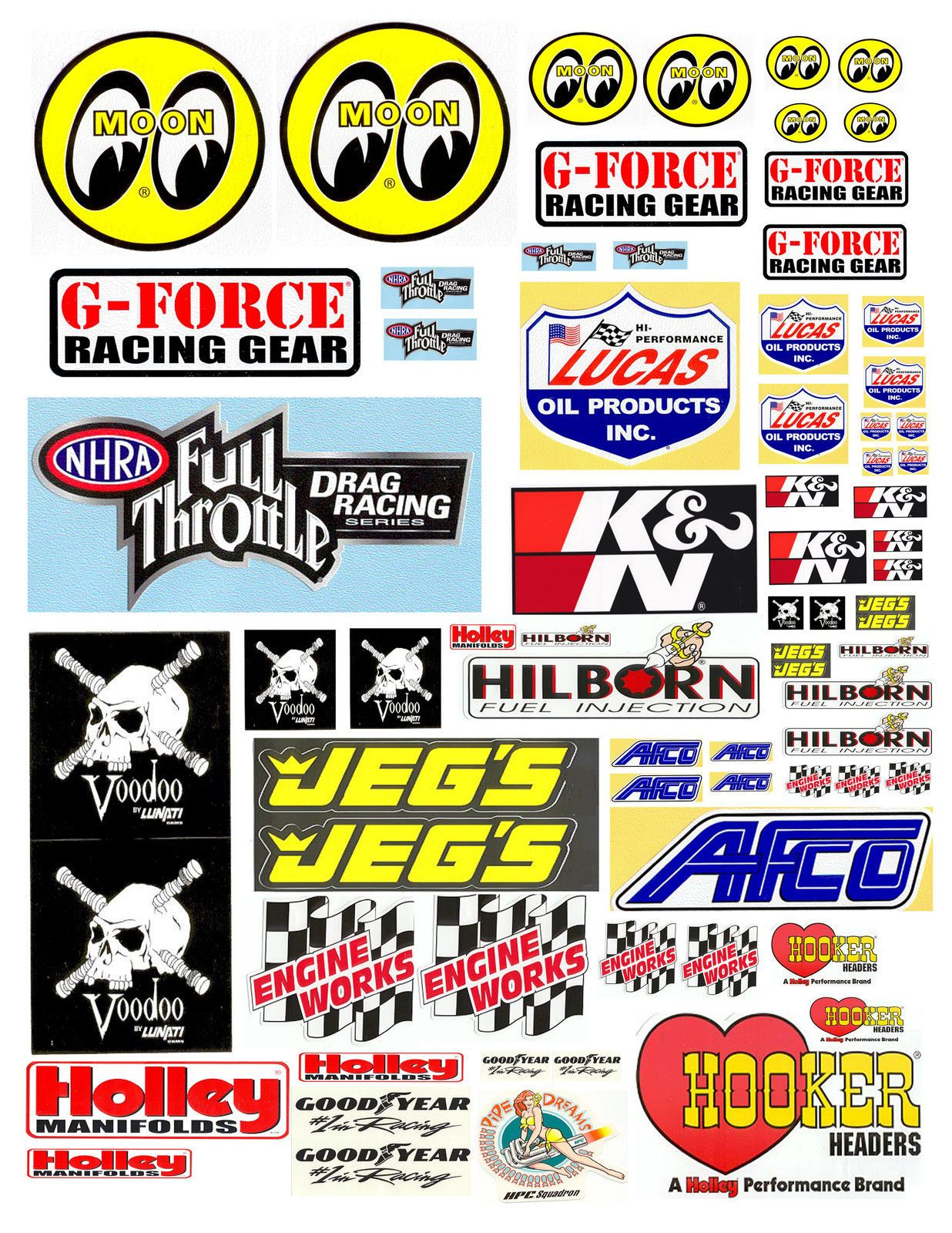 Scalextric Decals Vinyl Custom Stickers