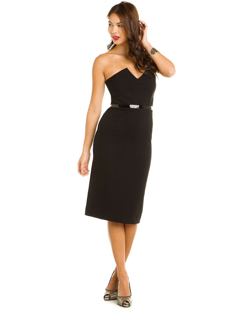 Catherine Malandrino Black Strapless Dress