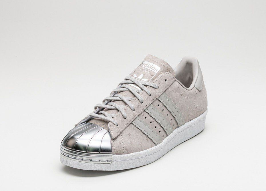 adidas W Superstar 80s Metal Toe W adidas (Clear Gris / Clear Gris / Metallic a39471