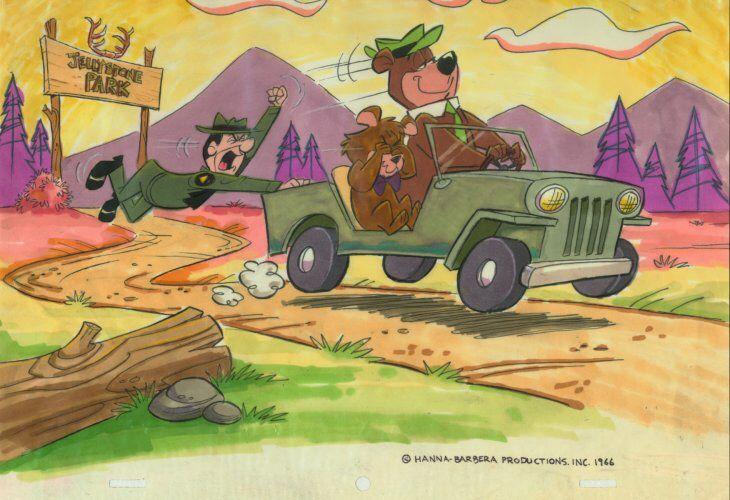 Yogi Bear, Boo Boo and Ranger Smith Colour Concept