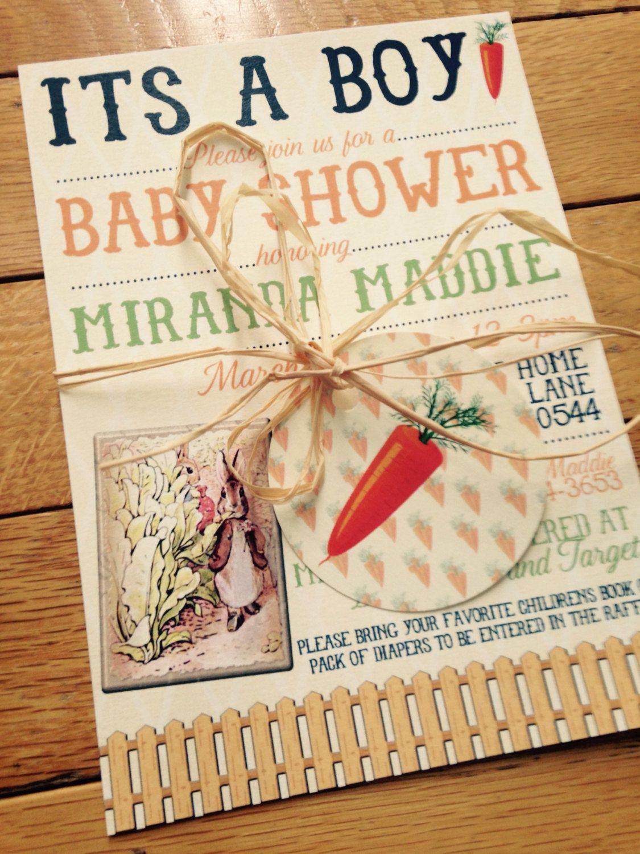 Baby Shower Invitations - Peter Rabbit Baby Shower - Baby Shower ...