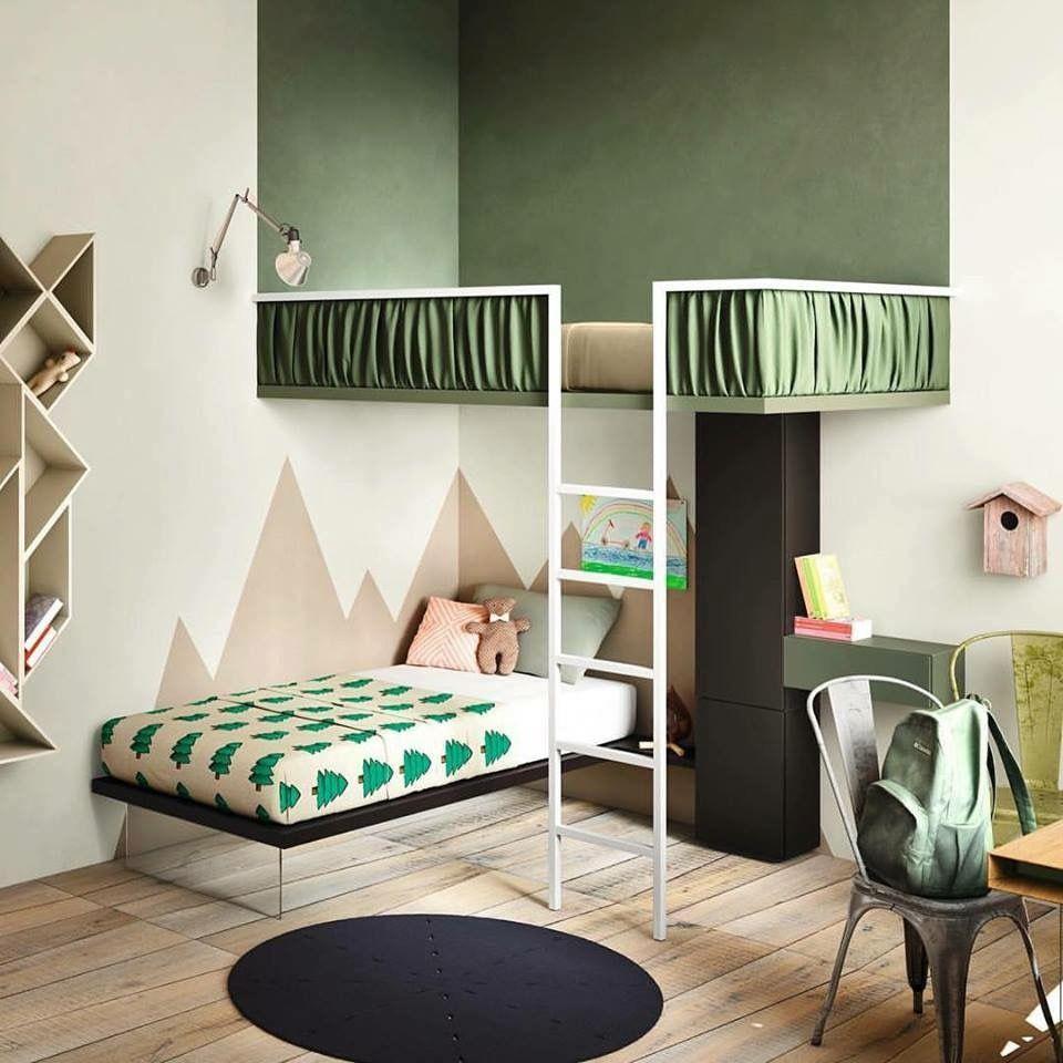 Camera bimbi #LAGO #kidsroom | Camerette, Idee letto ...