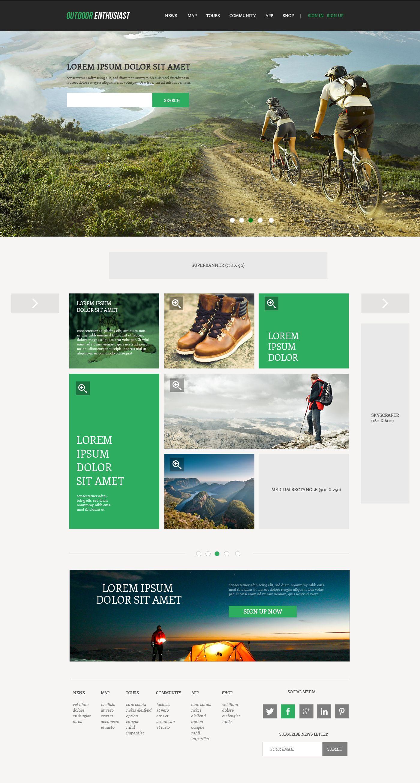 Web • Template [Outdoor Website] …   Pinteres…