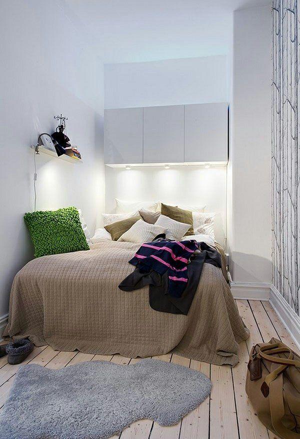 La chambre parentale petit espace - idées déco Small spaces and Spaces