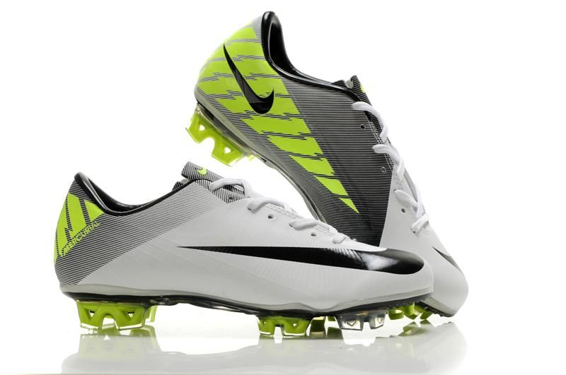 reputable site bc195 4ee44 Nike Mercurial Vapor Superfly III FG - White Black Volt