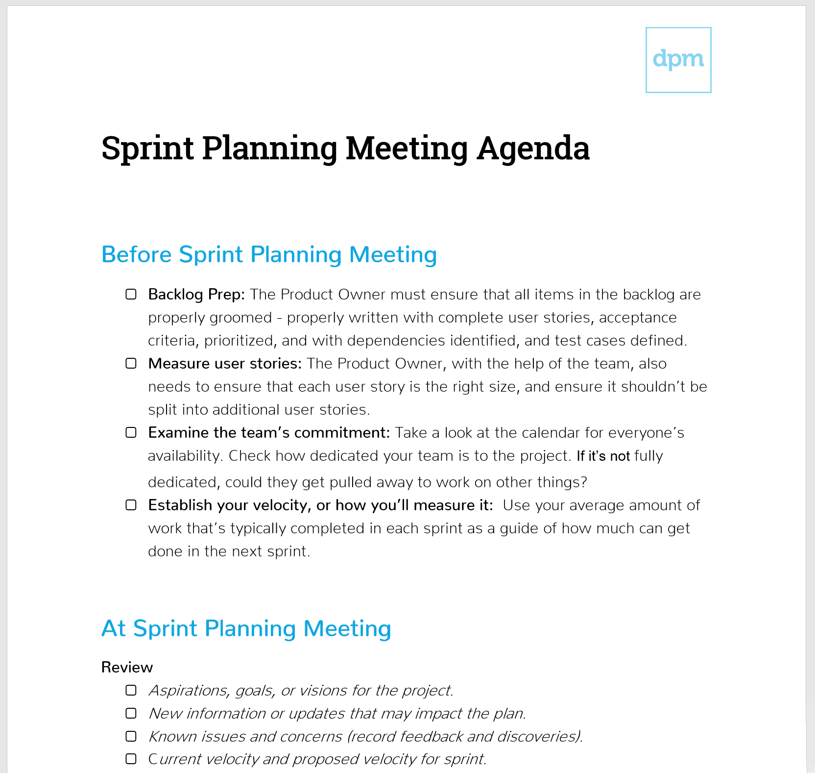 How To Run A Sprint Planning Meeting Like A Boss Meeting Agenda The Digital Project Manager In 2020 Meeting Agenda Agenda Template Meeting Planning