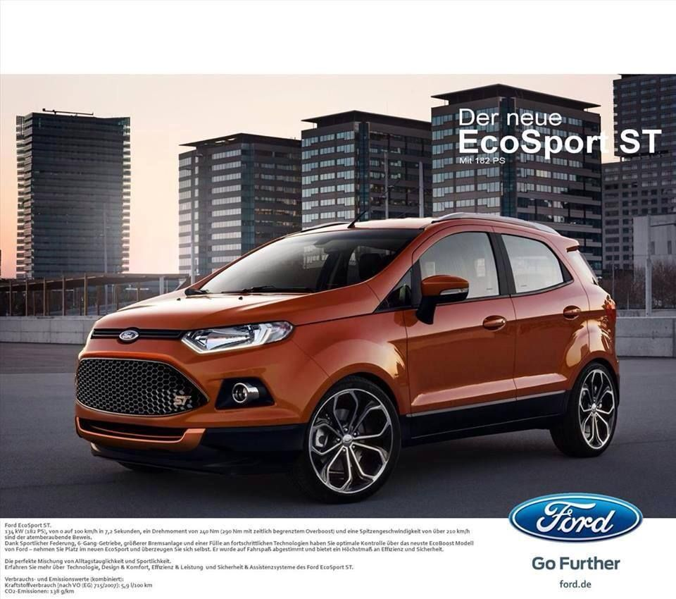 The New Ford EcoSport ST Ford ecosport, Ford suv, Suv