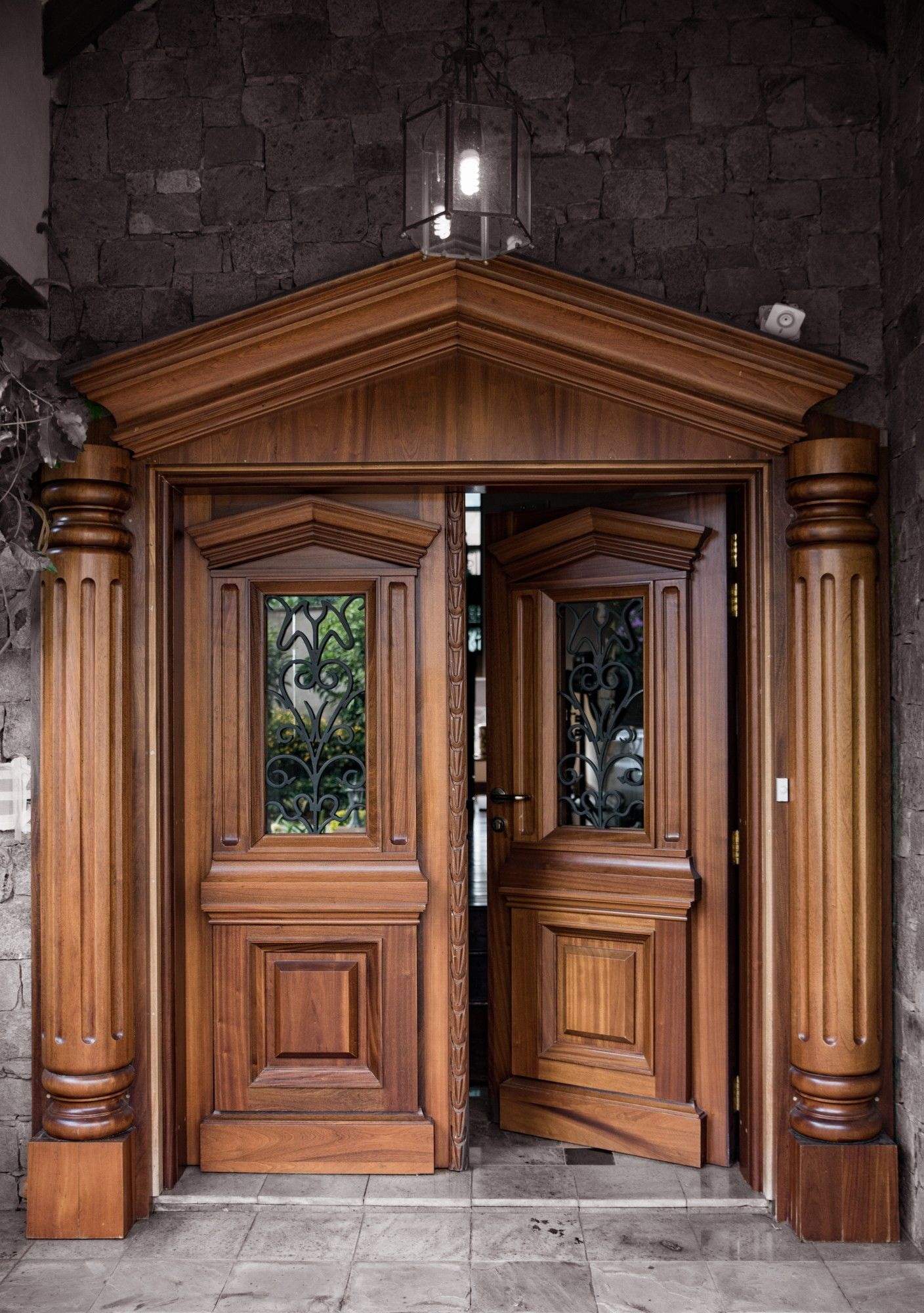 Our Solid Mahogany Door With Bulletproofing Internals Custom Made To Your Specification Main Entrance Wooden Doors Door Design Modern Wooden Main Door