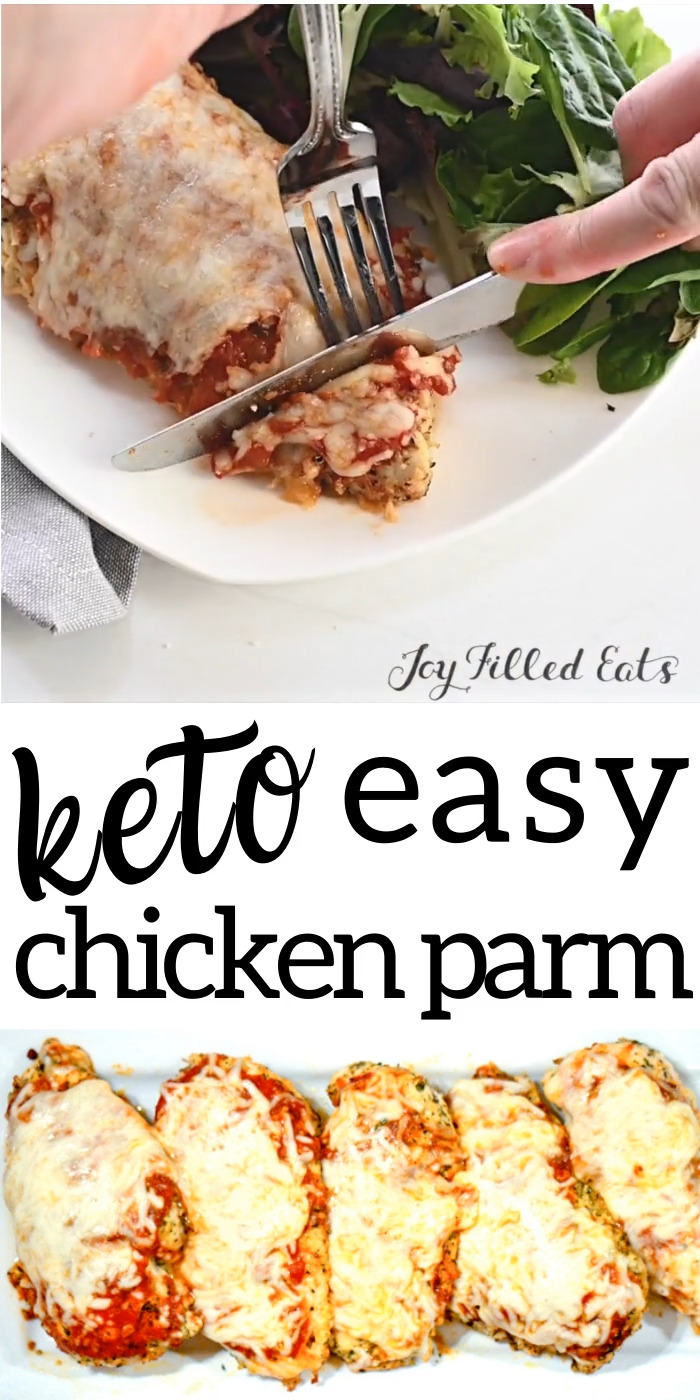 Photo of Keto Chicken Parmesan – Low Carb, Gluten-Free