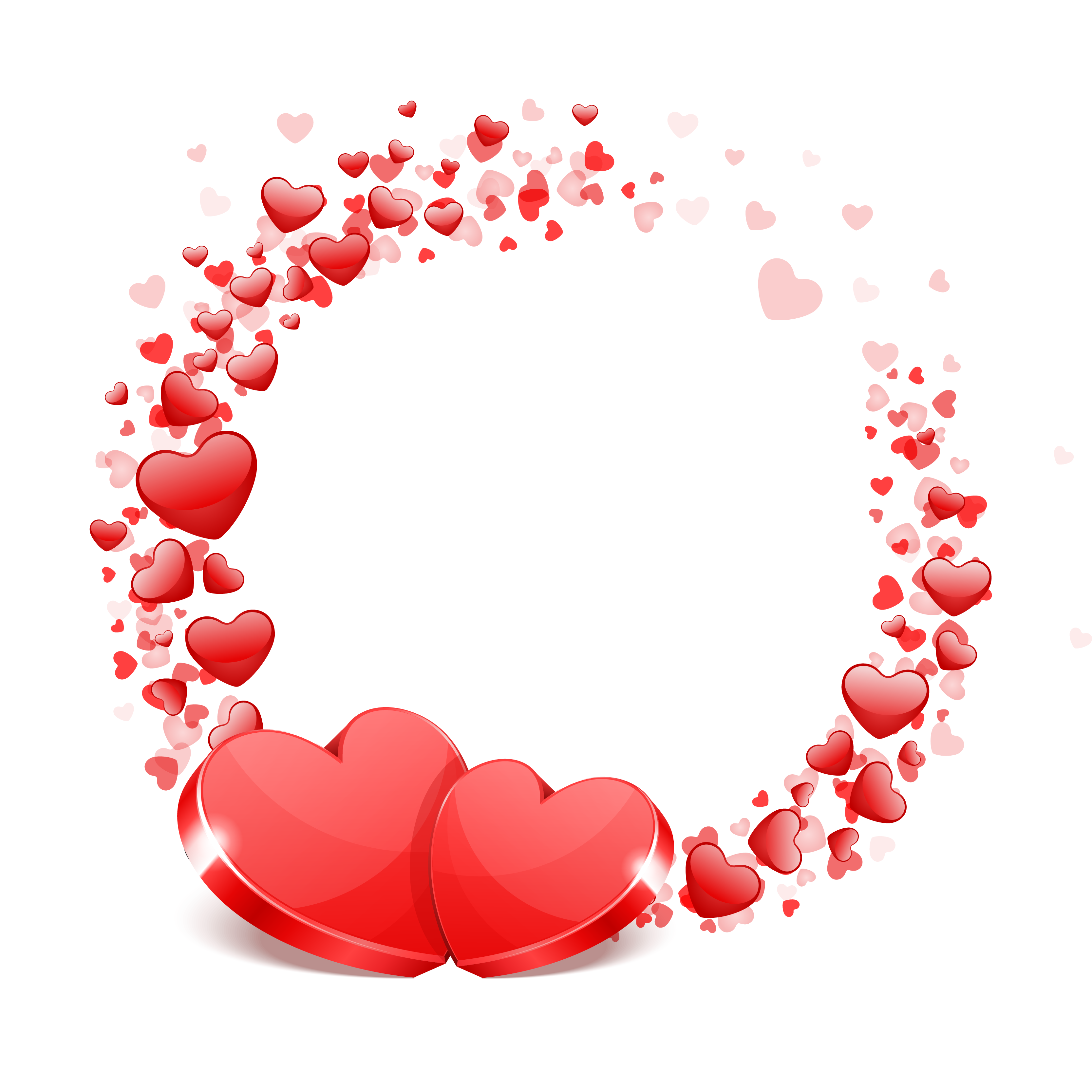 Red Hearts, Festive, Love PNG and Vector with Transparent