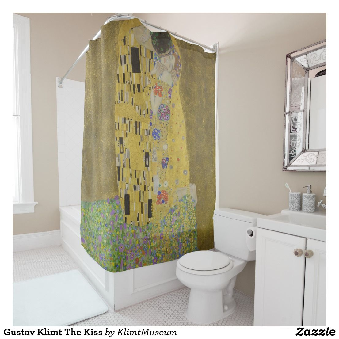 Gustav Klimt The Kiss Shower Curtain Zazzle Com With Images