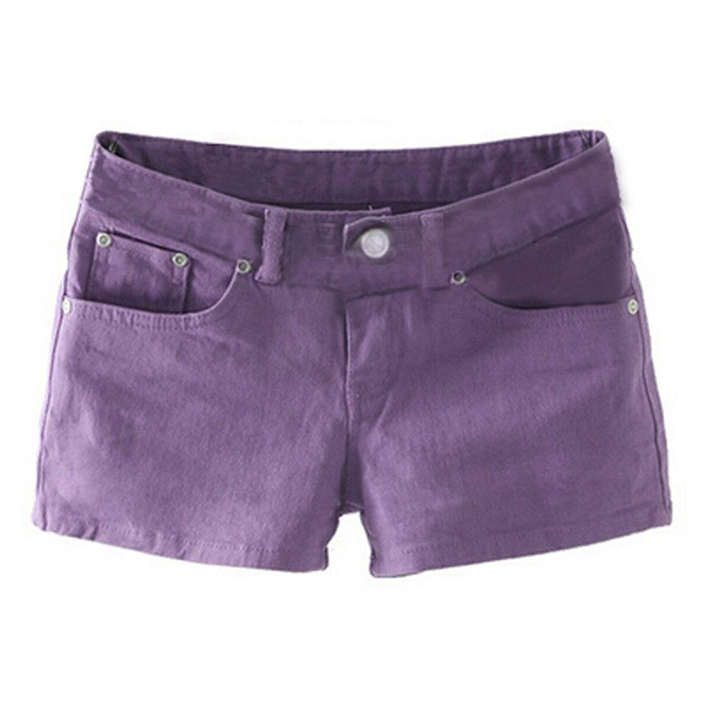 Adw Pants Summer Color Slim Shorts Short Jeans Denim Candy Fit wqR1gwS