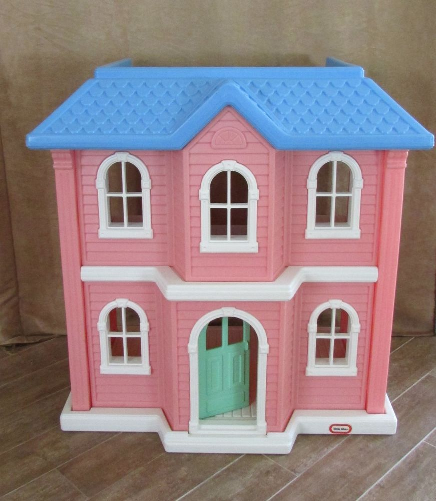 Little tikes table and chairs pink - Little Tikes Pink Dollhouse Victorian My Size 3 Feet Tall Barbie Doll House Littletikes