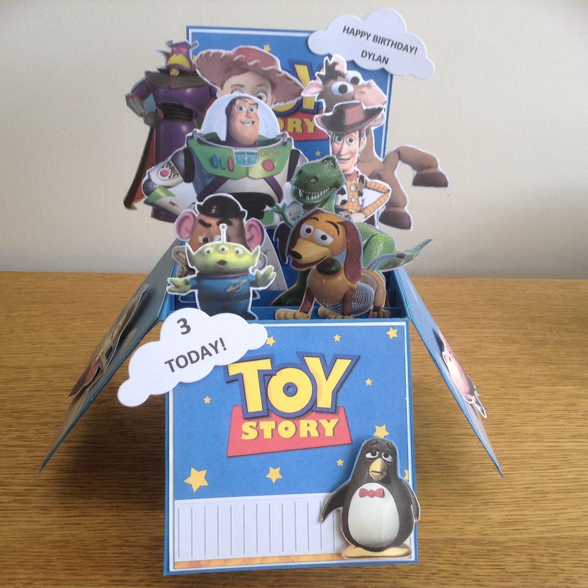 Toy Story Box Birthday Card Boxed Birthday Cards Toy Story Invitations Toy Story Birthday