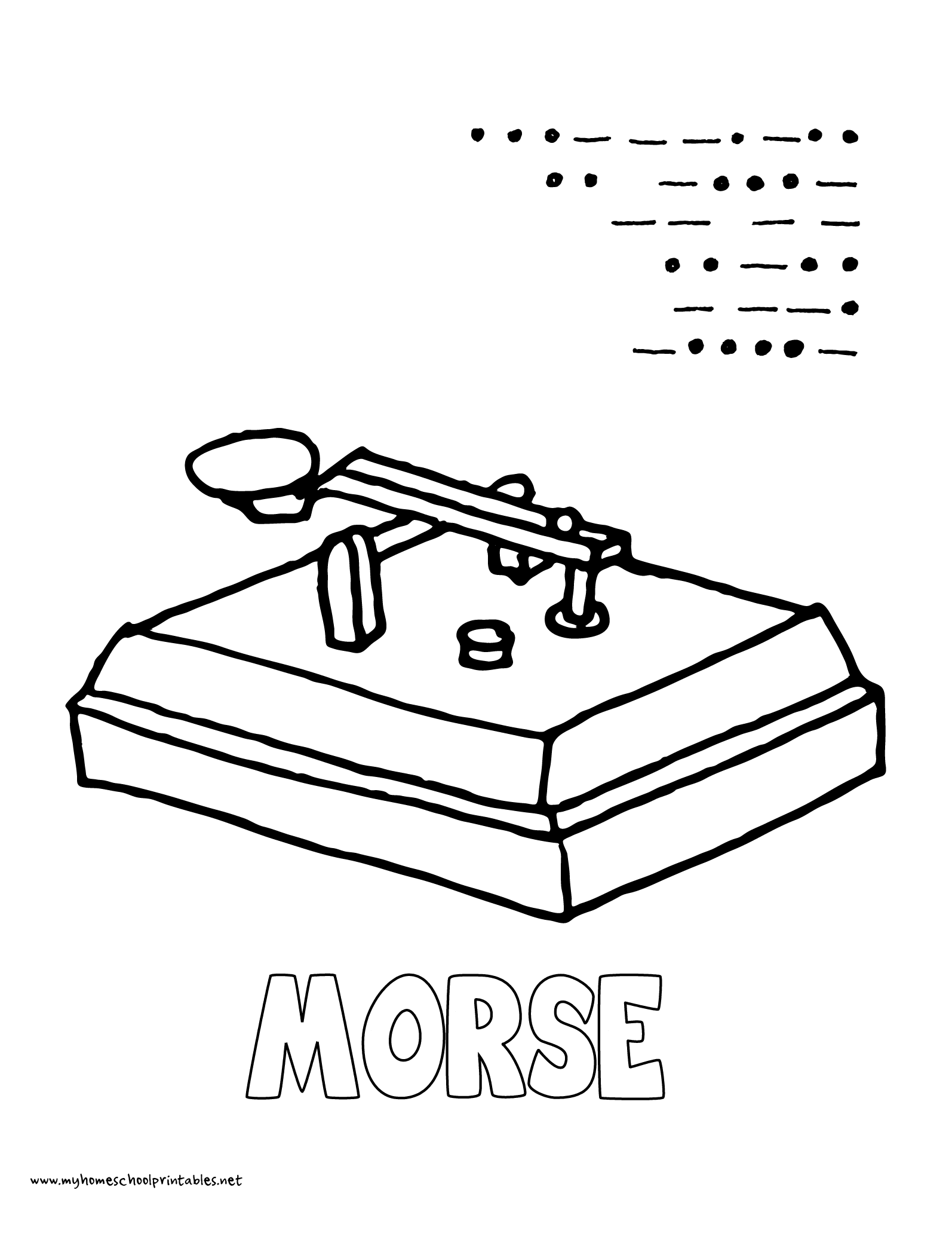 World History Coloring Pages Printables Morse Code