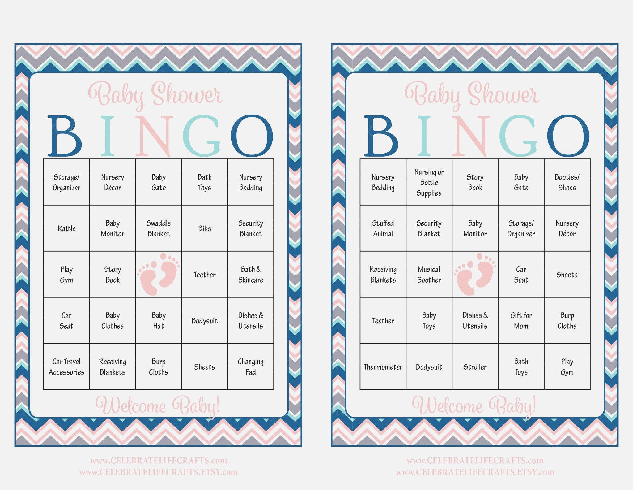 Fresh Baby Shower Bingo Cards Home Decor Color Trends
