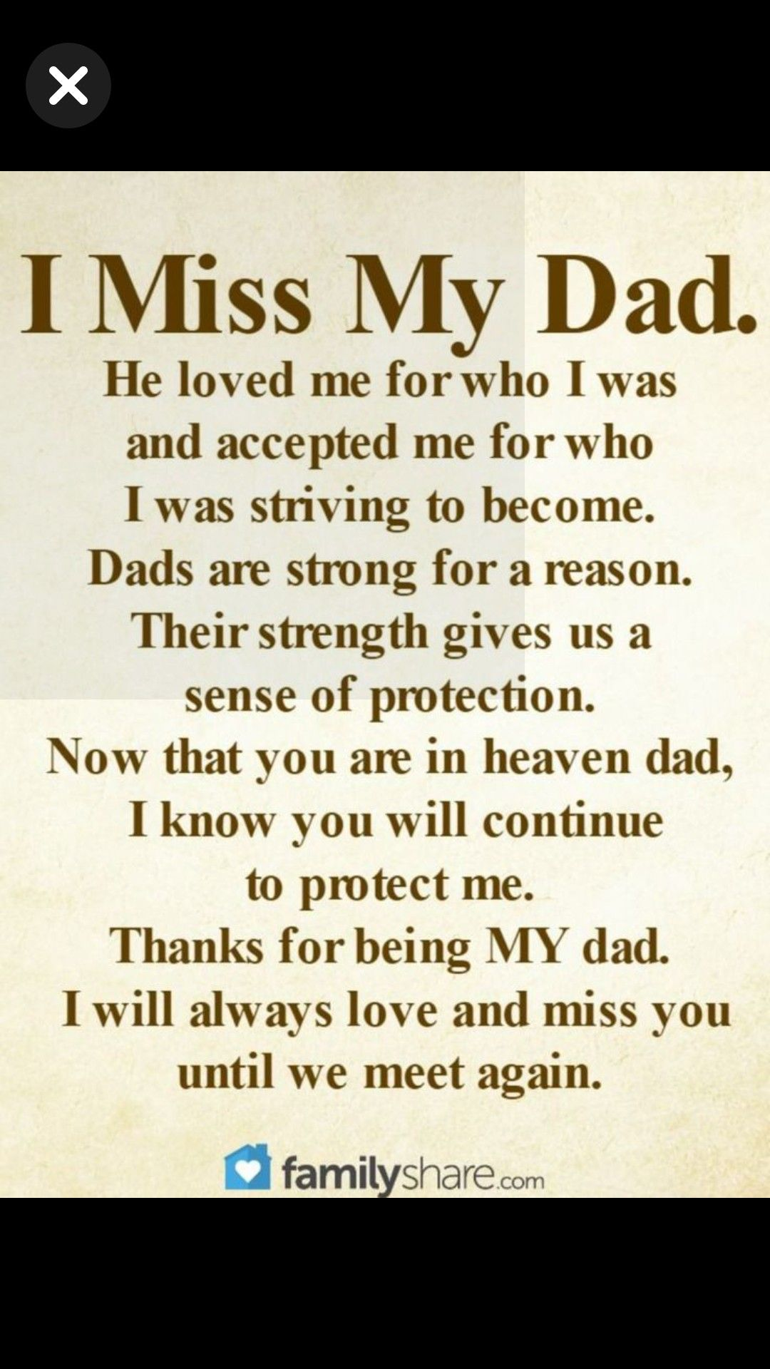 My Miss I Heaven Dad Quotes