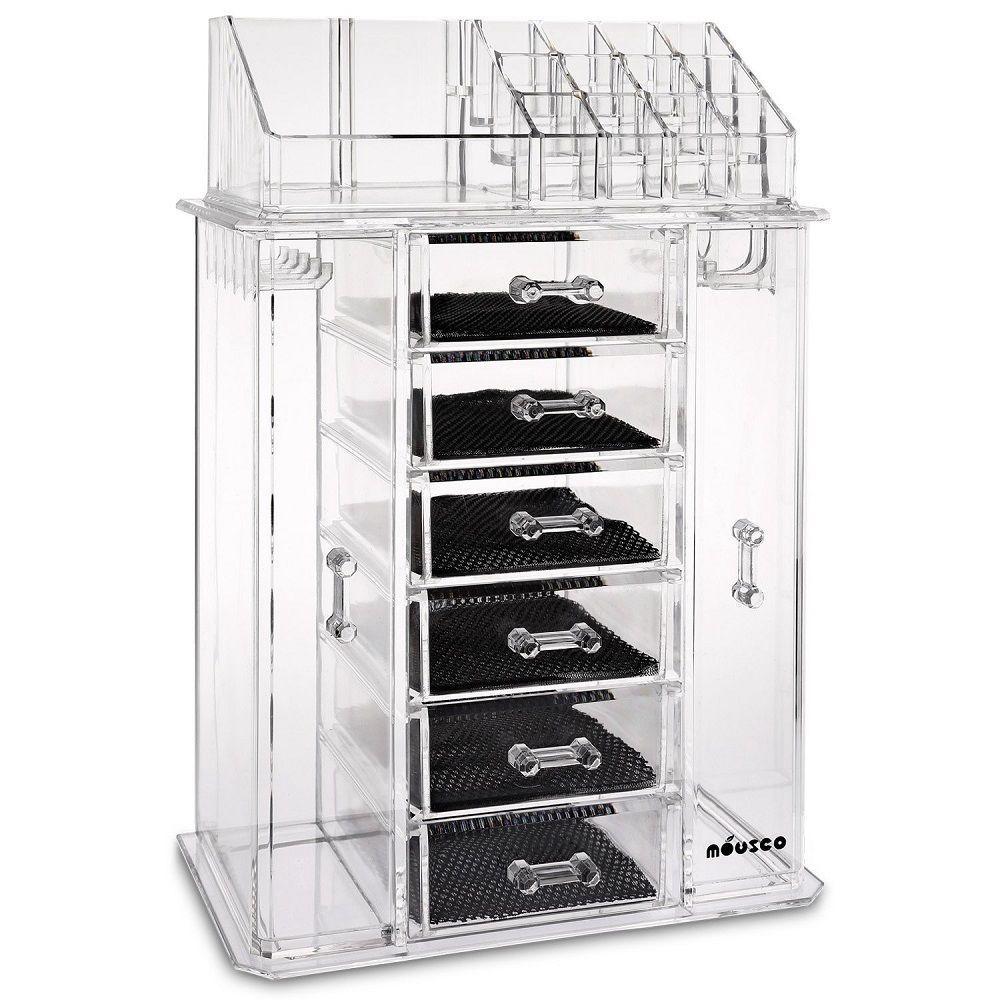 Acrylic Cosmetic Makeup Organizer Jewelry Box Drawer Storage Stand