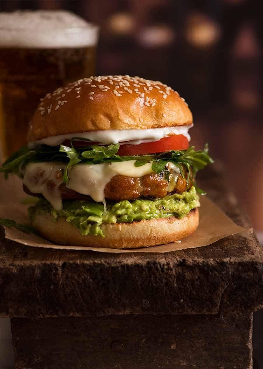 avocado chicken burger recipe chicken burgers chicken avocado burger recipetin eats avocado chicken burgers