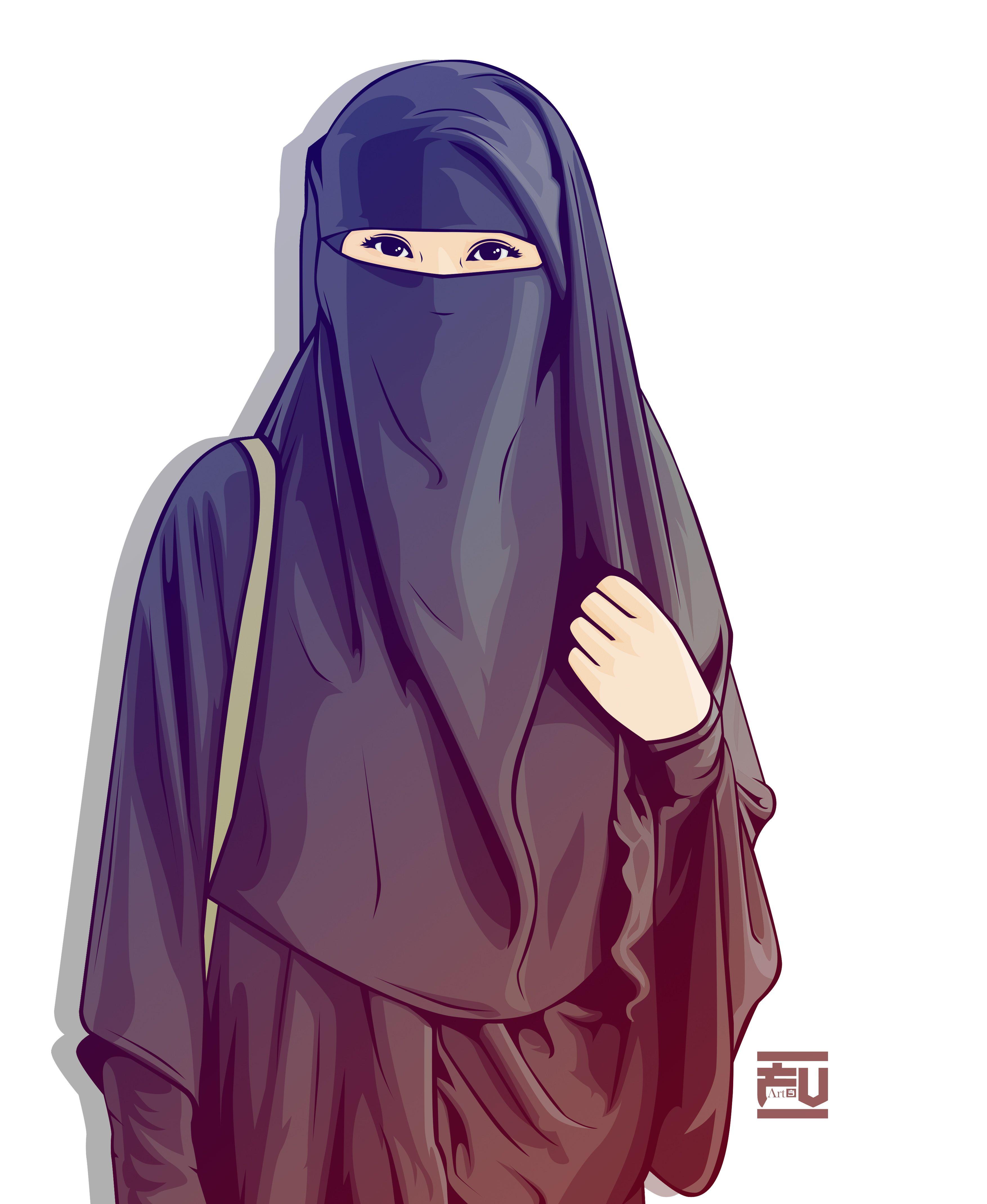 Hijab Vector Niqab ahmadfu22 Islam, Kızlar, Anime kız