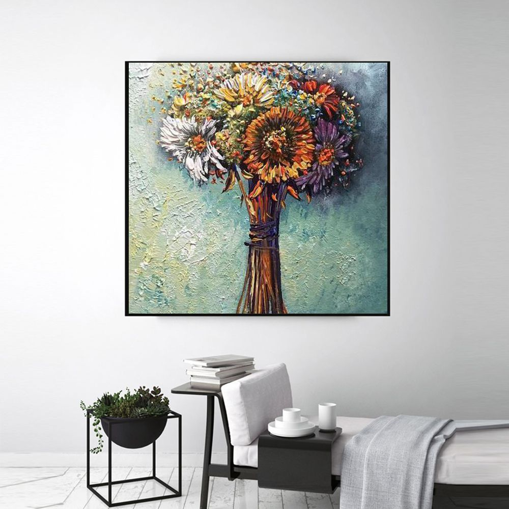 Flower Hand Painted Oil Painting Canvas Wall Art Canvas Wall Art Painting Canvas Painting