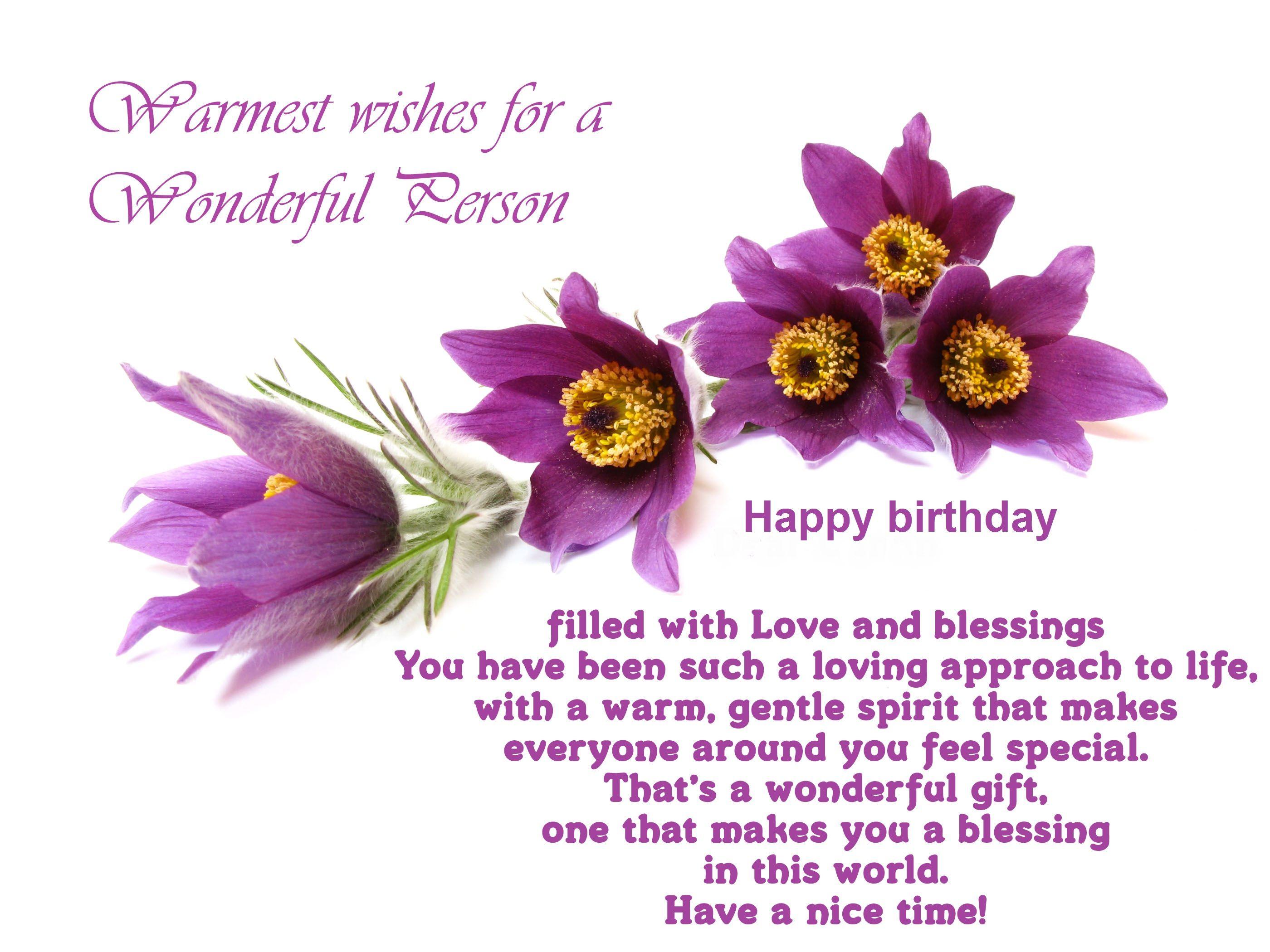 54 best happy birthday wishes images on pinterest happy birthday warmest wishes for a wonderful person happy birthday friend izmirmasajfo Choice Image