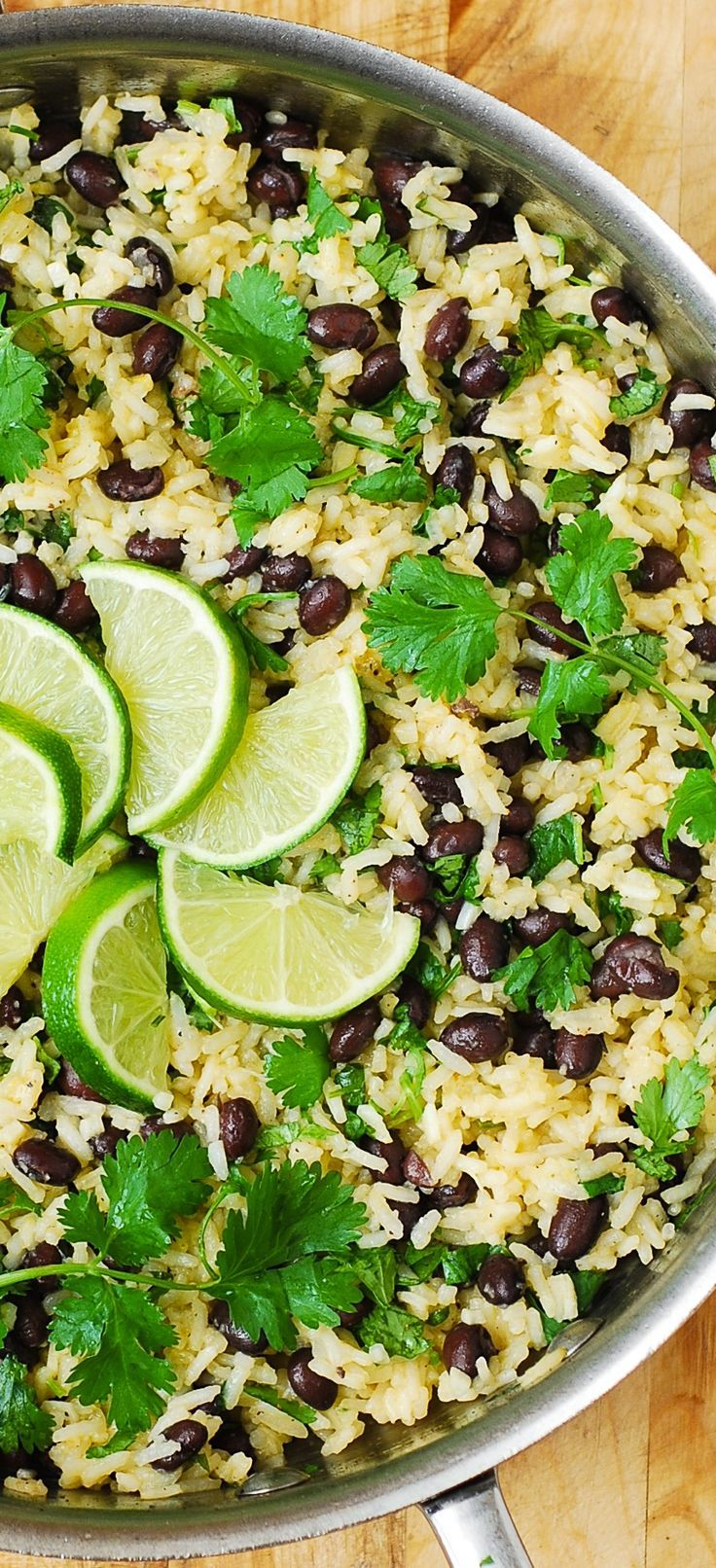 Cilantro-Lime Black Bean Rice - easy, healthy, gluten free side dish. #tacosidedishes