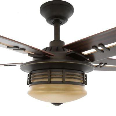 Hampton Bay Pendleton 52 In Indoor Oil Rubbed Bronze Ceiling Fan
