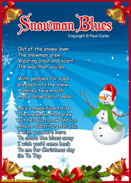 Christmas Poems For Kids Christmas Poems Pinterest
