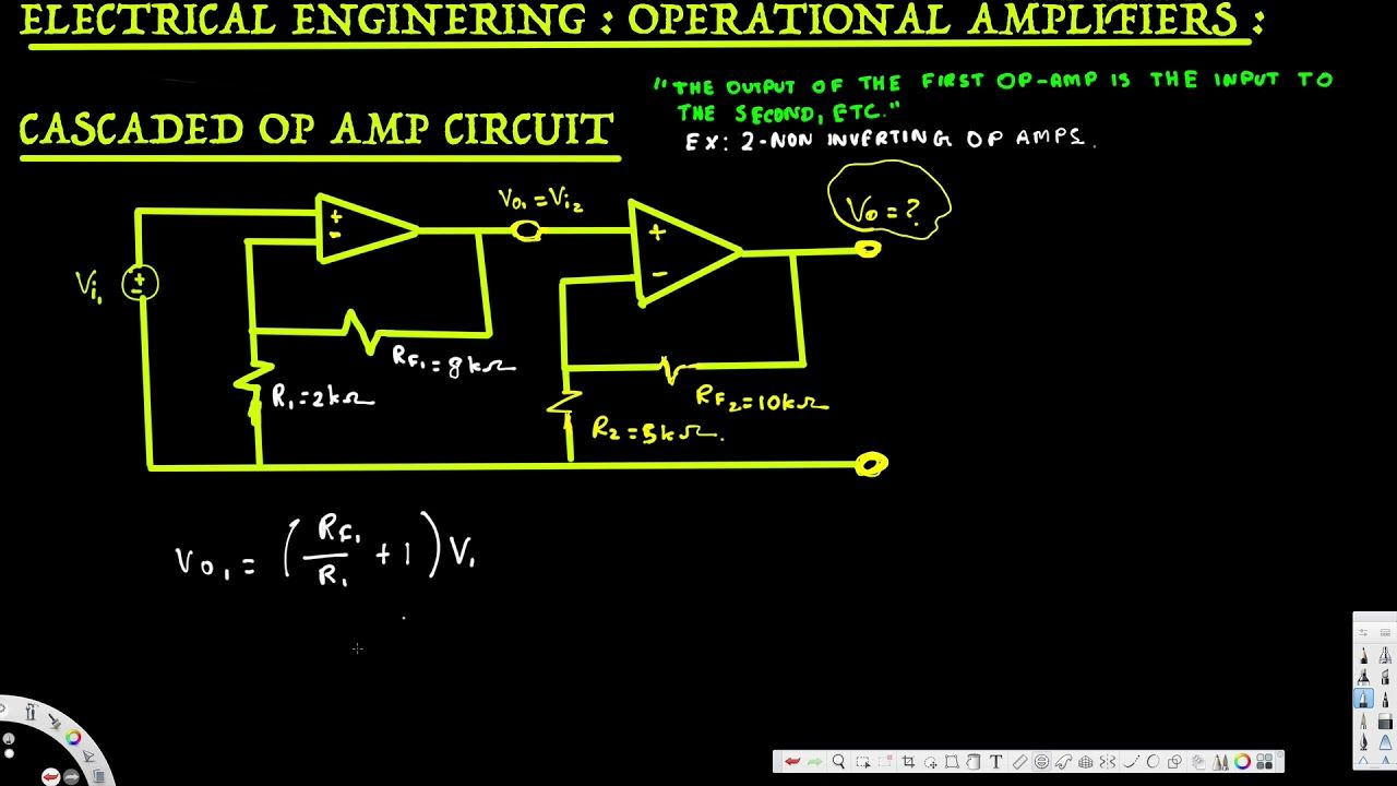 Electrical Engineering Operational Amp Cascaded Op Circuit Summing Amplifier Exam