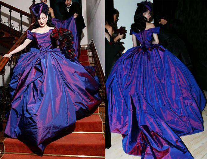 Vivienne Westwood Designs Dita Von Teese In Vintage Rococo Dress