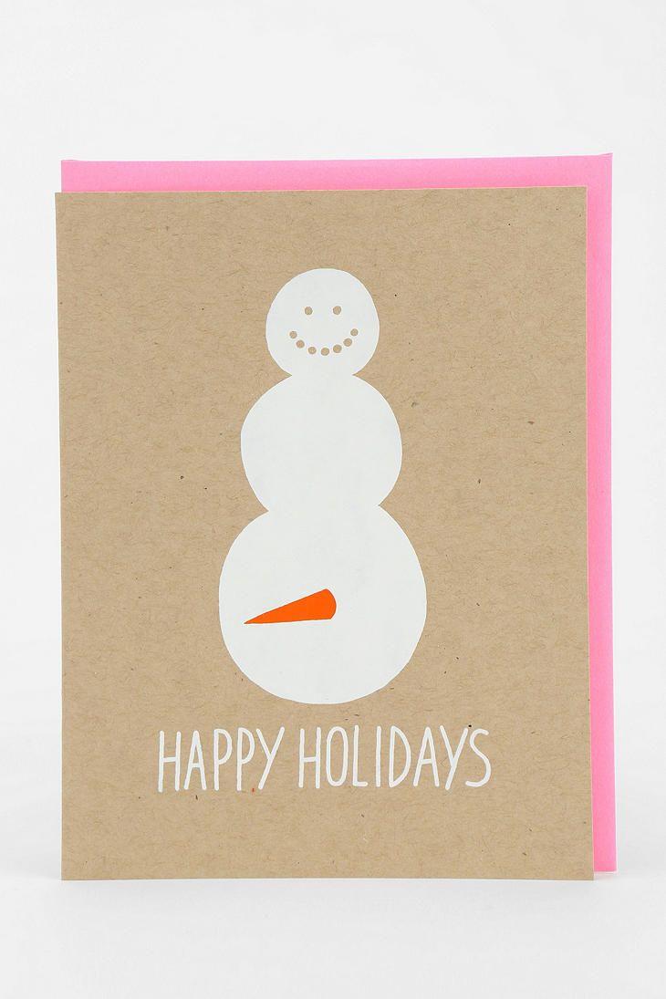 Snowman Carrot Holiday Card