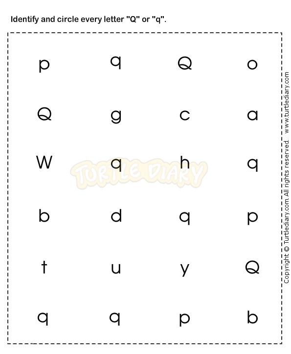 Learn Abc Worksheets Preschool Esl Efl Letter Q Pinterest