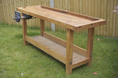 Sensational Wooden Work Bench W Record Quick Release Vice Parry Son Lamtechconsult Wood Chair Design Ideas Lamtechconsultcom