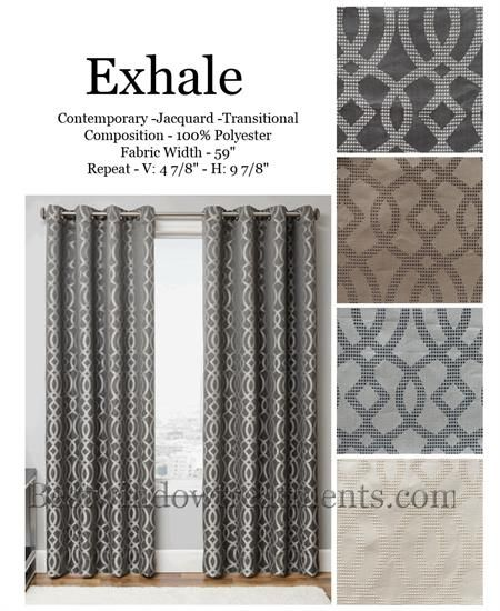 Exhale Curtain Panel In A Quatrefoil Design Available In 4 Colors Brown Curtains Living Room Family Room Curtains Beige Curtains