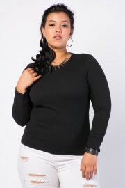 Shop Plus Size Basics - Camis, Short Sleeve Tops, Long Sleeve Tops & More − G-Stage