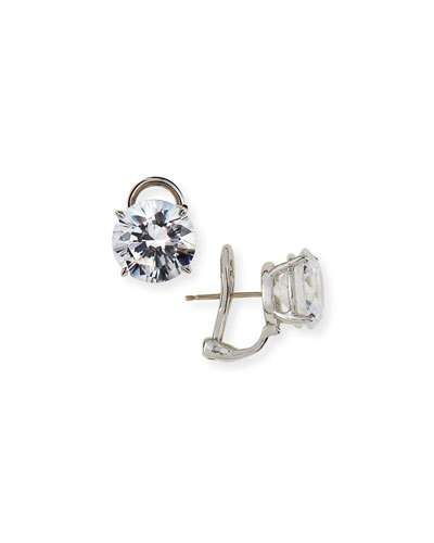 Fantasia CZ Round Stud Earrings, 10.00 TCW