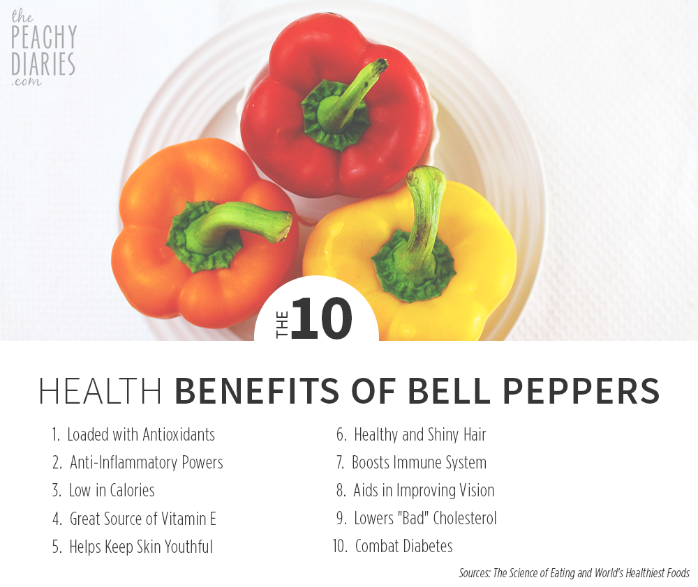 the 10: health benefits of bell peppers | health | pinterest