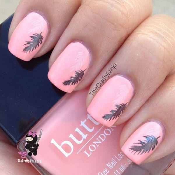 When it comes to nail art or manicures, there are so many choices. Feather  design is one of the most popular nail art trend these days. - When It Comes To Nail Art Or Manicures, There Are So Many Choices