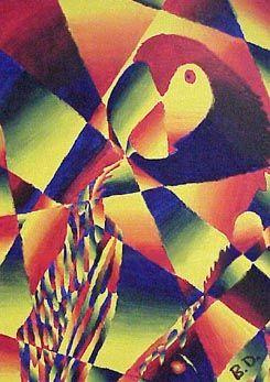 Shattered color value paintings | 3d art ideas | Pinterest ...