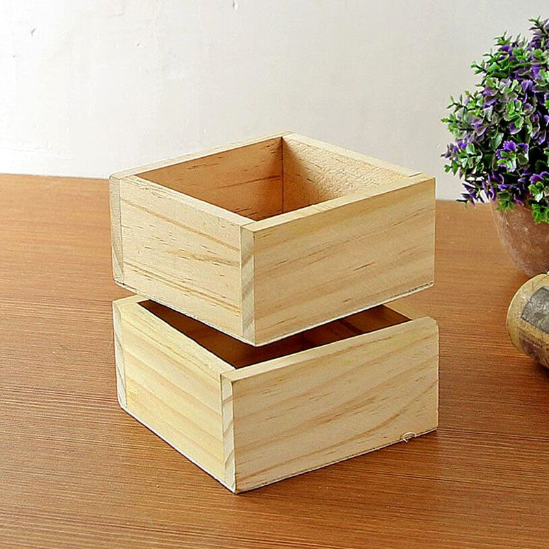 Click To Buy Wholesale Primary Color Mini Wood Succulent Plant Flower Pot Wooden Flowerpot Home Garde With Images Planting Succulents Planting Flowers Wood Planters