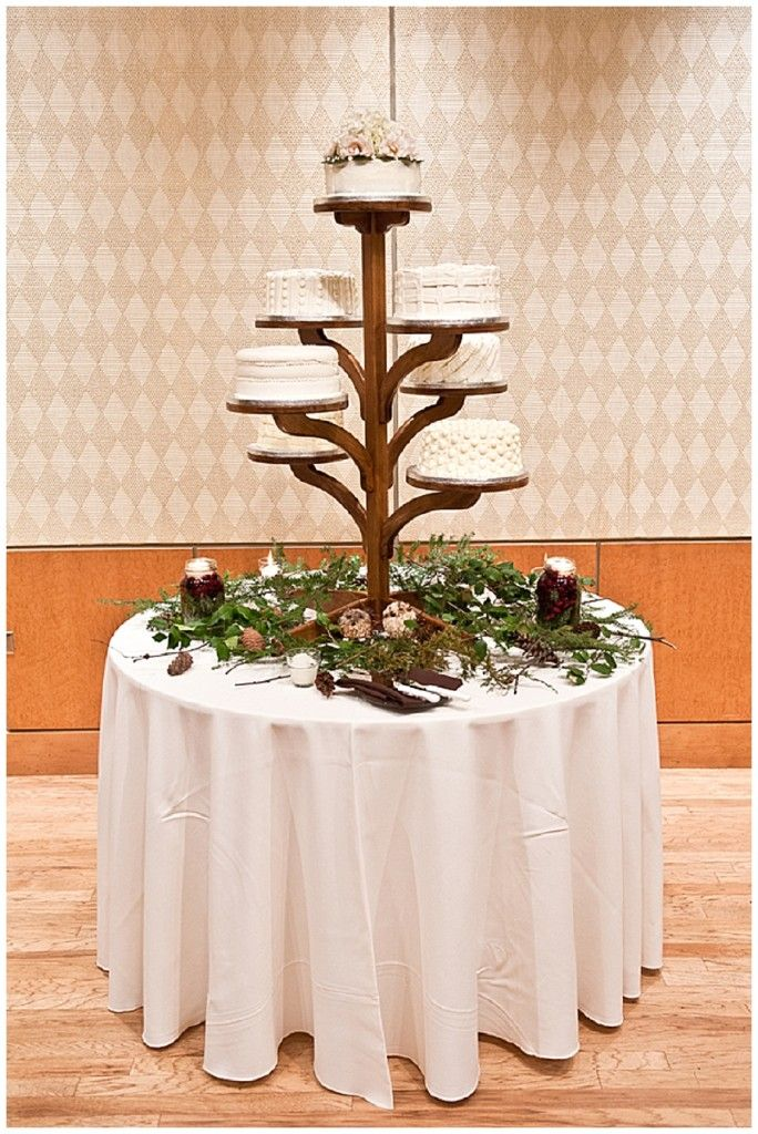 A rustic vintage winter wedding beautiful wedding and for Beautiful cake stands