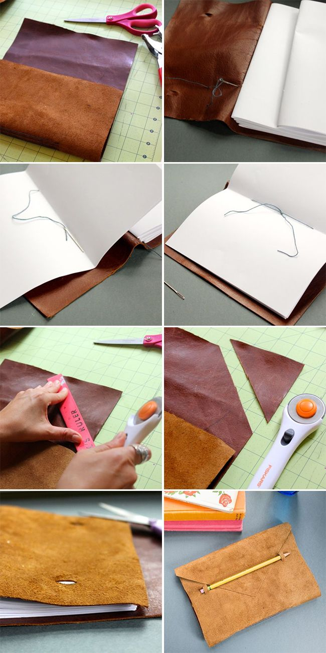 Anthropologie Leather DIY Journal | http://hellonatural.co/diy-leather-journal/