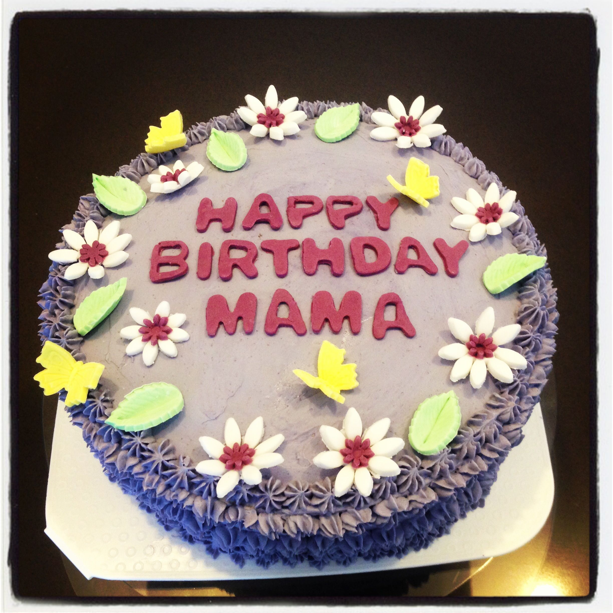 Purple Yam Birthday Cake Cakes And Everything Yummy Pinterest